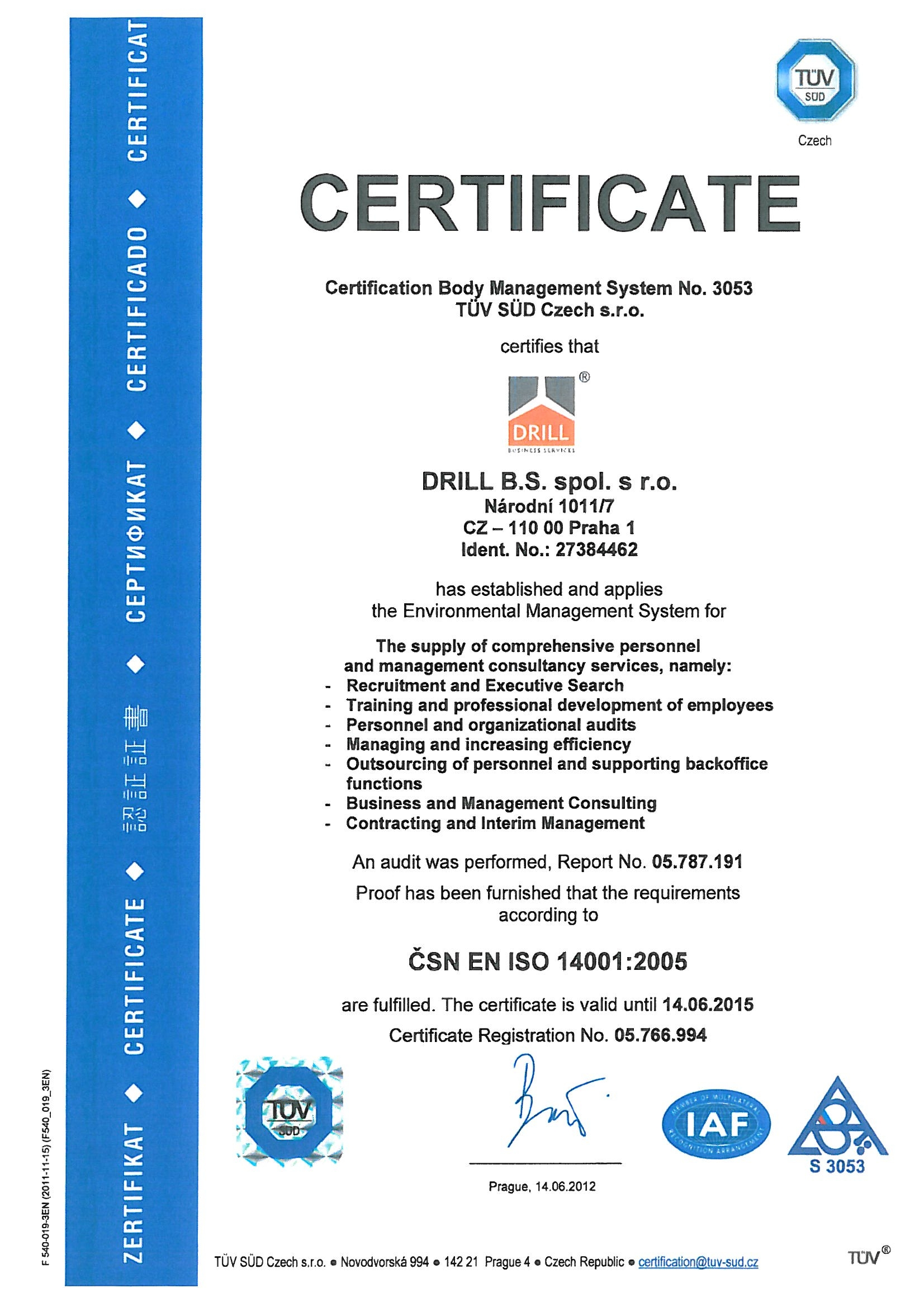 Drill bs executive search recruitment training bodyshop certificate of environmental management xflitez Choice Image